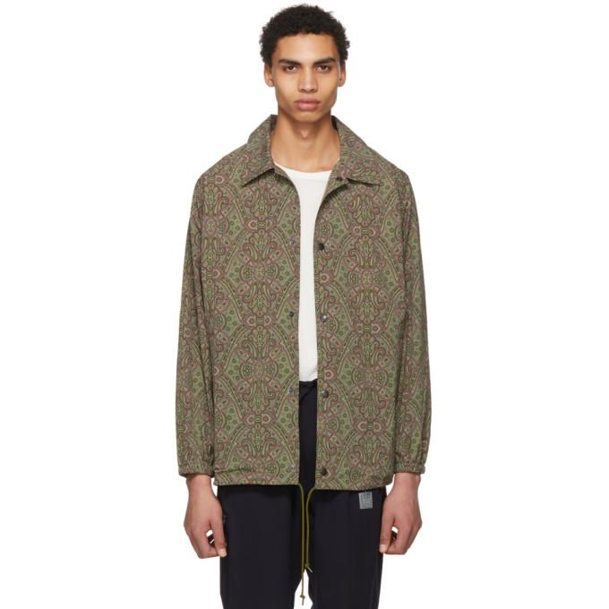 5d02dae70073d Needles Green Paisley Coach Jacket In Olive | ModeSens