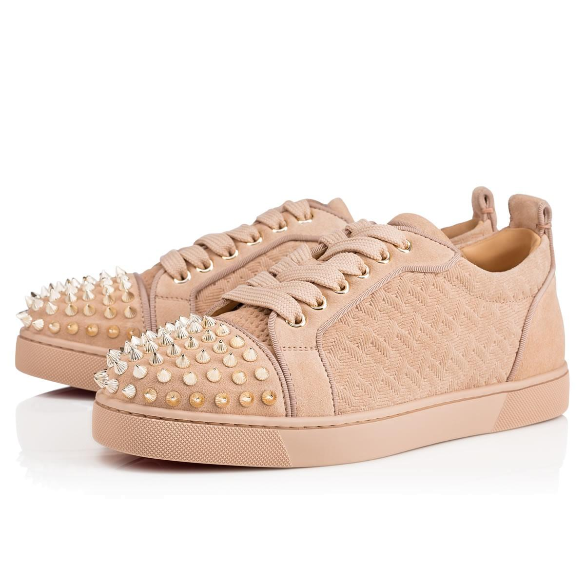 e34fe2b2d754 Christian Louboutin Louis Junior Spikes Woman Flat In Version Nu ...