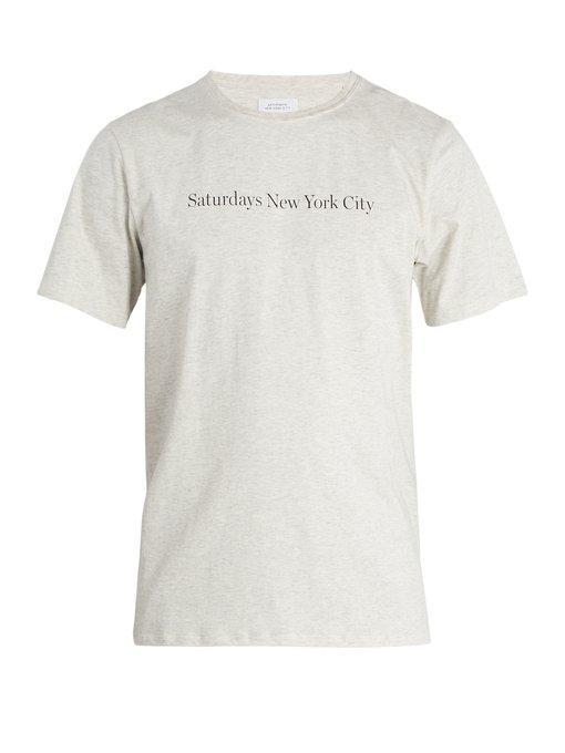 Saturdays Surf Nyc Saturdays Nyc Cotton-Jersey T-Shirt In Grey