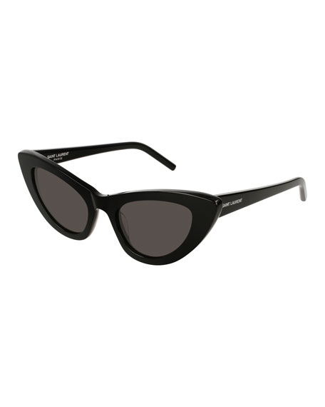 5a55695273195 Saint Laurent Lily Cat-Eye Acetate Sunglasses
