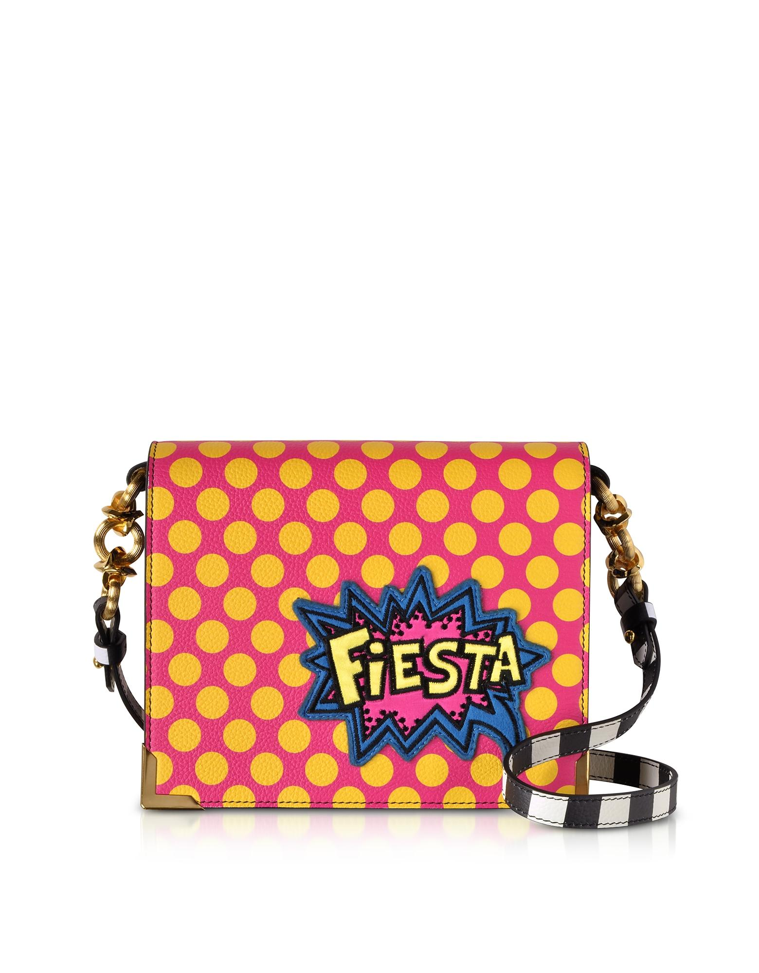 Alessandro Enriquez Hera Pop Fiesta Leather Shoulder Bag In Red
