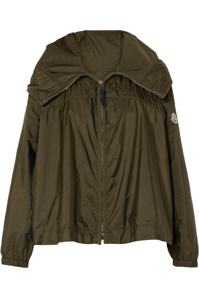 Moncler Lune Hooded Jacket In Green