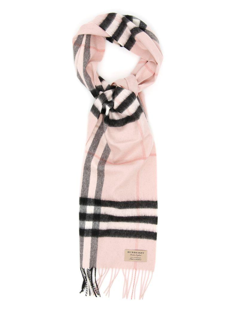 Burberry Giant Check Scarf In Ash Roserosa