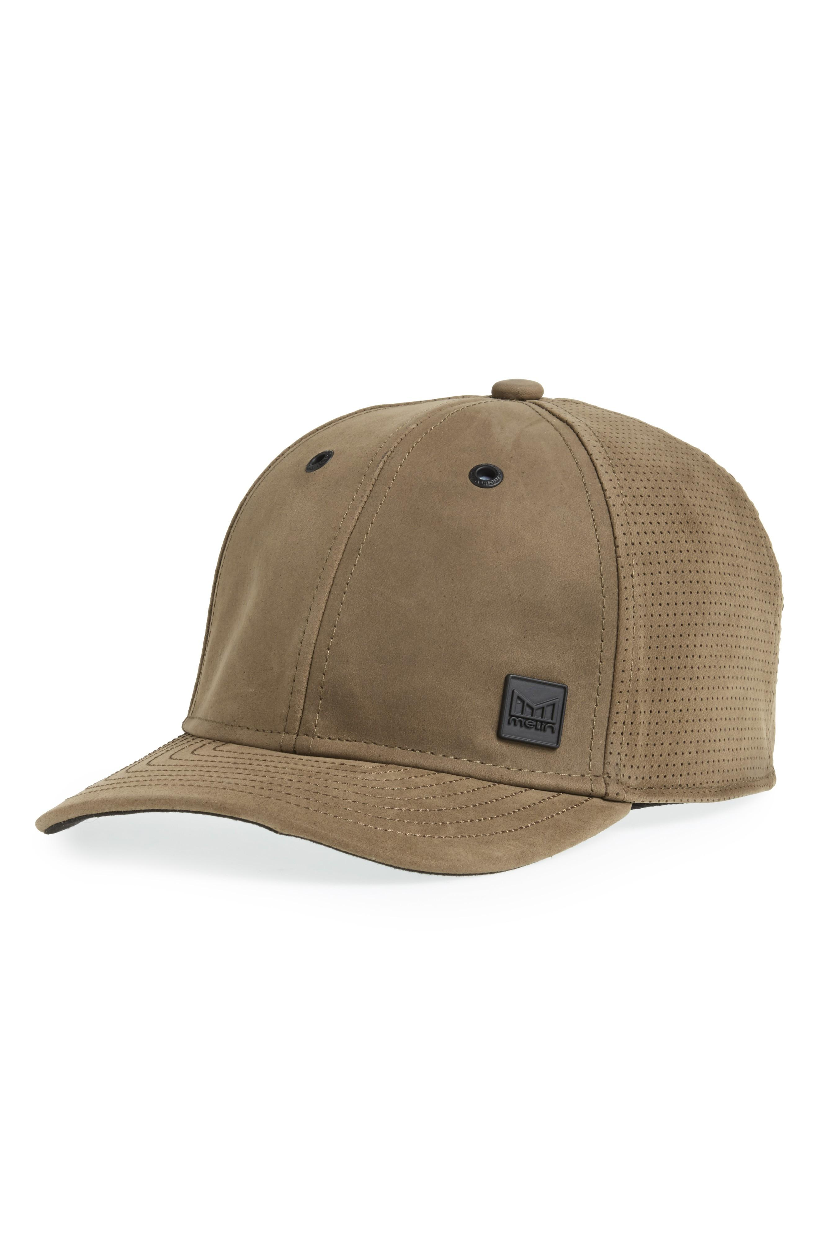 premium selection 5d150 d9ec2 Melin Voyage Elite Leather Ball Cap - Green In Moss