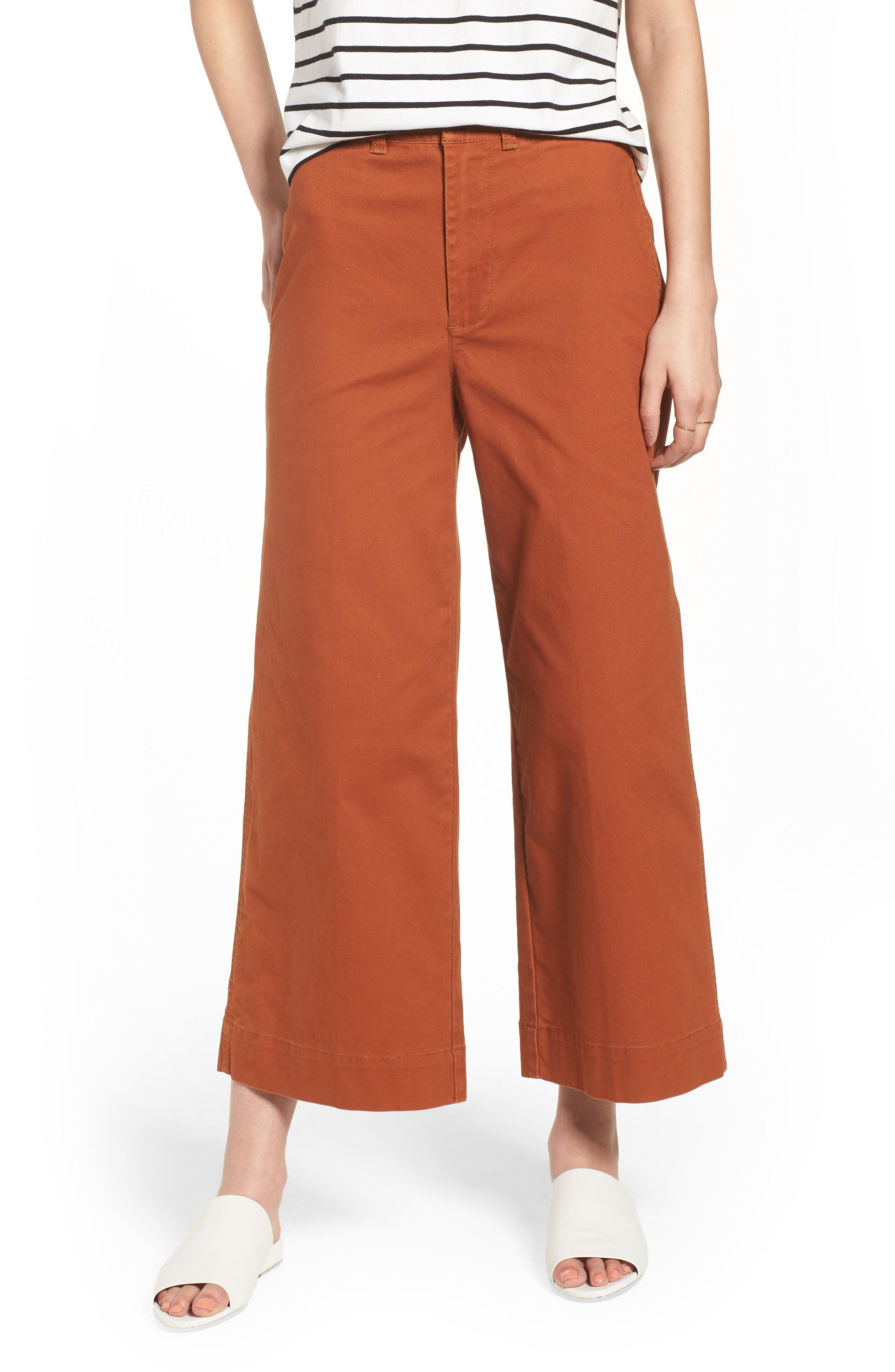 575d48ad5 Madewell Emmett Crop Wide Leg Pants In Warm Nutmeg | ModeSens