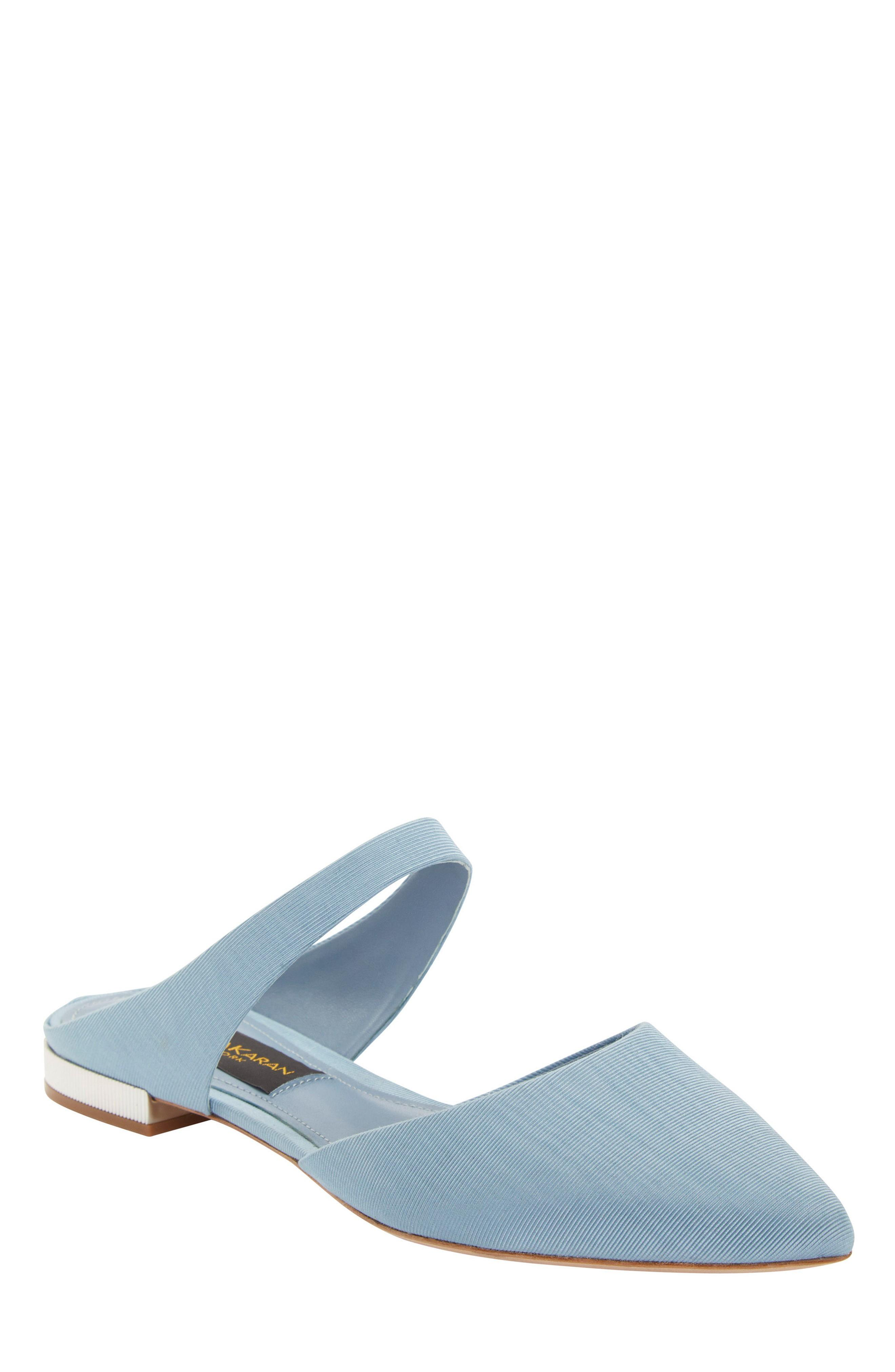 659b97c9c62a6 Donna Karan Paris Pointy Toe Mule in Chambray Leather