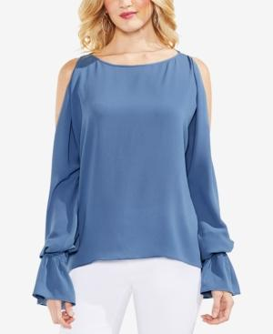 119de539554a97 Vince Camuto Cold-Shoulder Bell-Sleeve Top In China Blue
