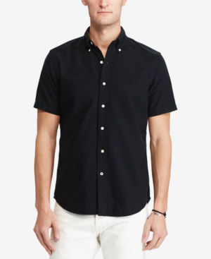 Polo Ralph Lauren Cotton Classic Fit Button-Down Shirt In Black