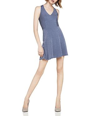 Bcbgeneration Striped Fit-And-Flare Dress In Blue Combo