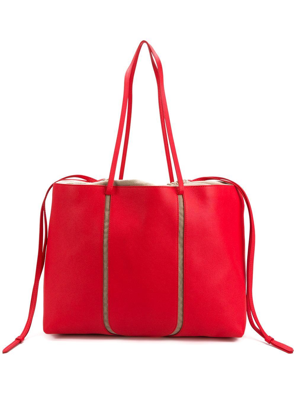 e538efe121bc2 Maison Margiela Leather Convertible Tote Bag - Red