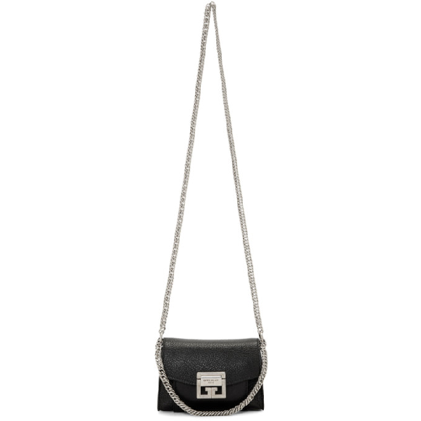 05f35111cfb Givenchy Nano Gv3 Leather Crossbody Bag - Black In 001 Black | ModeSens