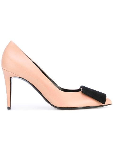 Pierre Hardy Suede Bow Pumps