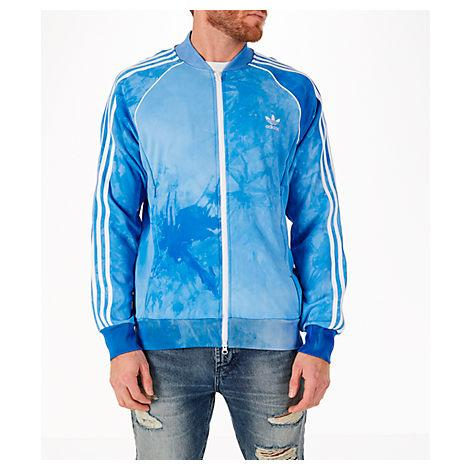 Men's Adias Originals Pharrell Williams Hu Holi Superstar Track Jacket, Blue