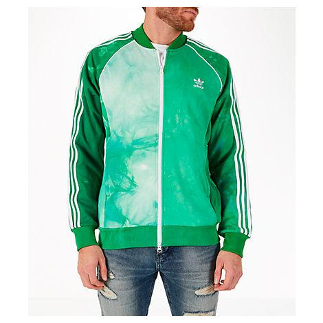 Men's Adias Originals Pharrell Williams Hu Holi Superstar Track Jacket, Green