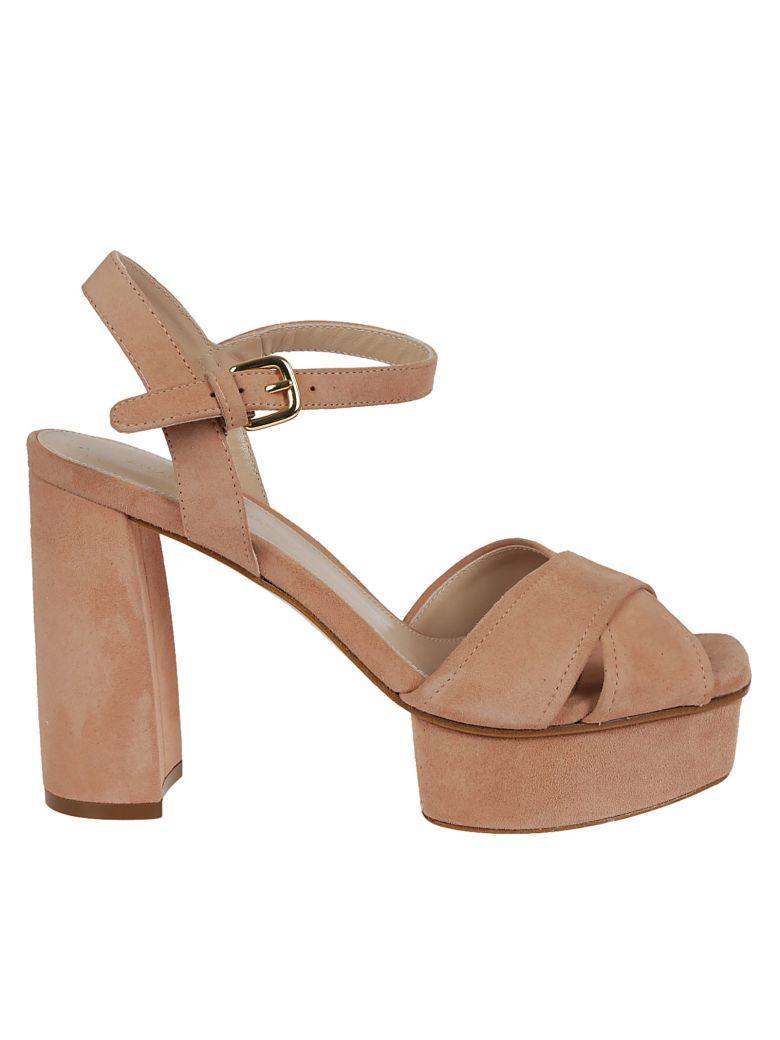 Stuart Weitzman Exposed Platform Sandals In Pink