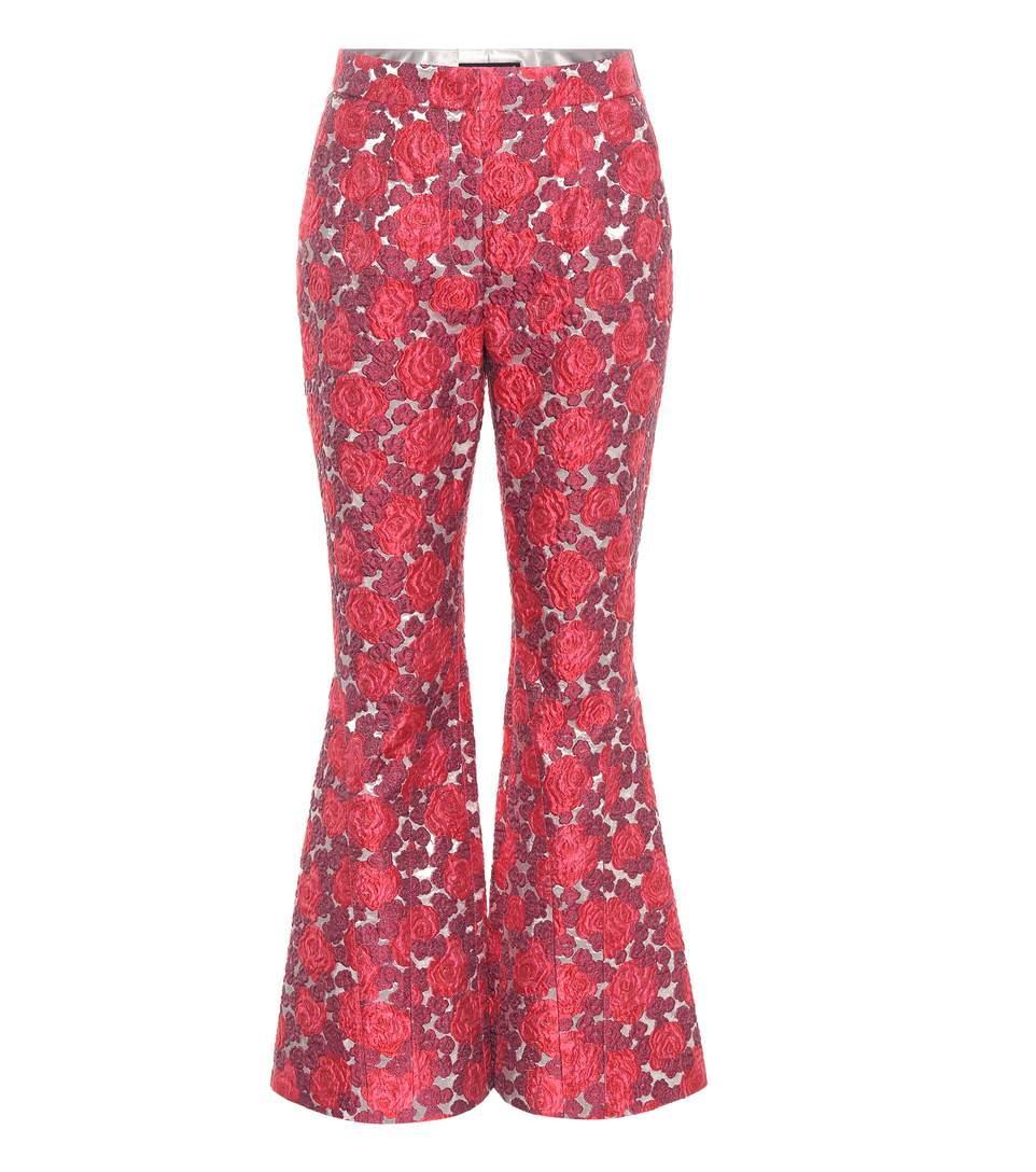 Dolce & Gabbana Jacquard Flared Trousers In Multicoloured