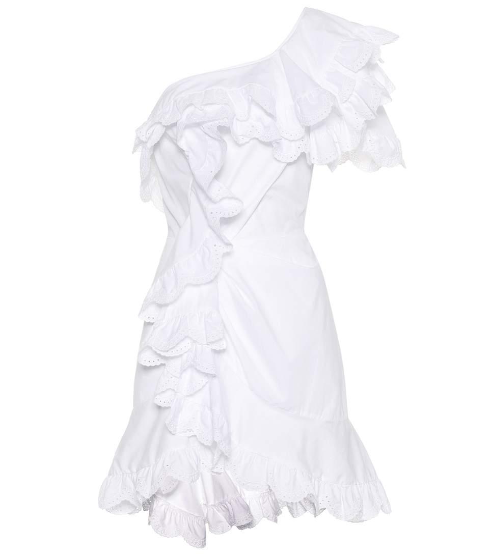 Isabel Marant Jiska Eyelet Cotton Dress In White