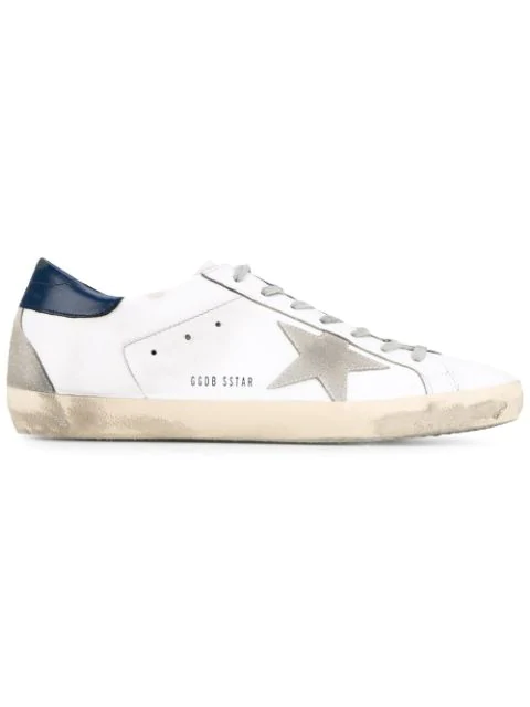 Golden Goose Superstar Distressed Suede And Leather Sneakers In White
