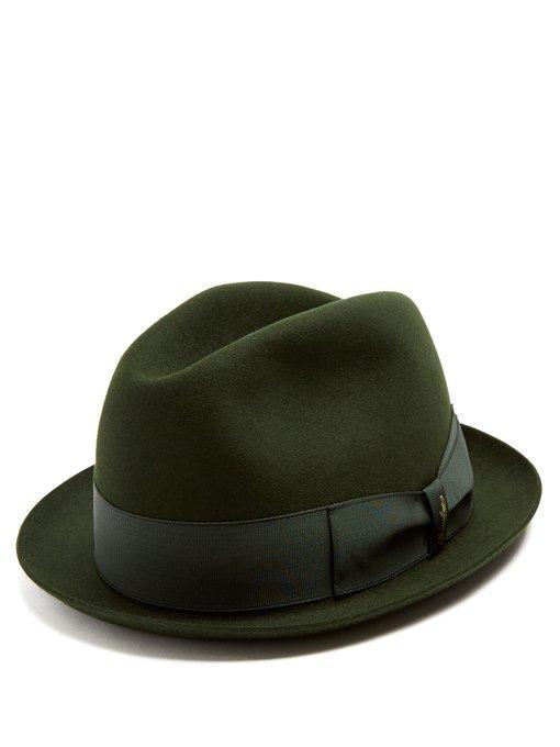 c3cbc6ed3994d Borsalino - Alessandria Narrow Brim Felt Hat - Mens - Khaki