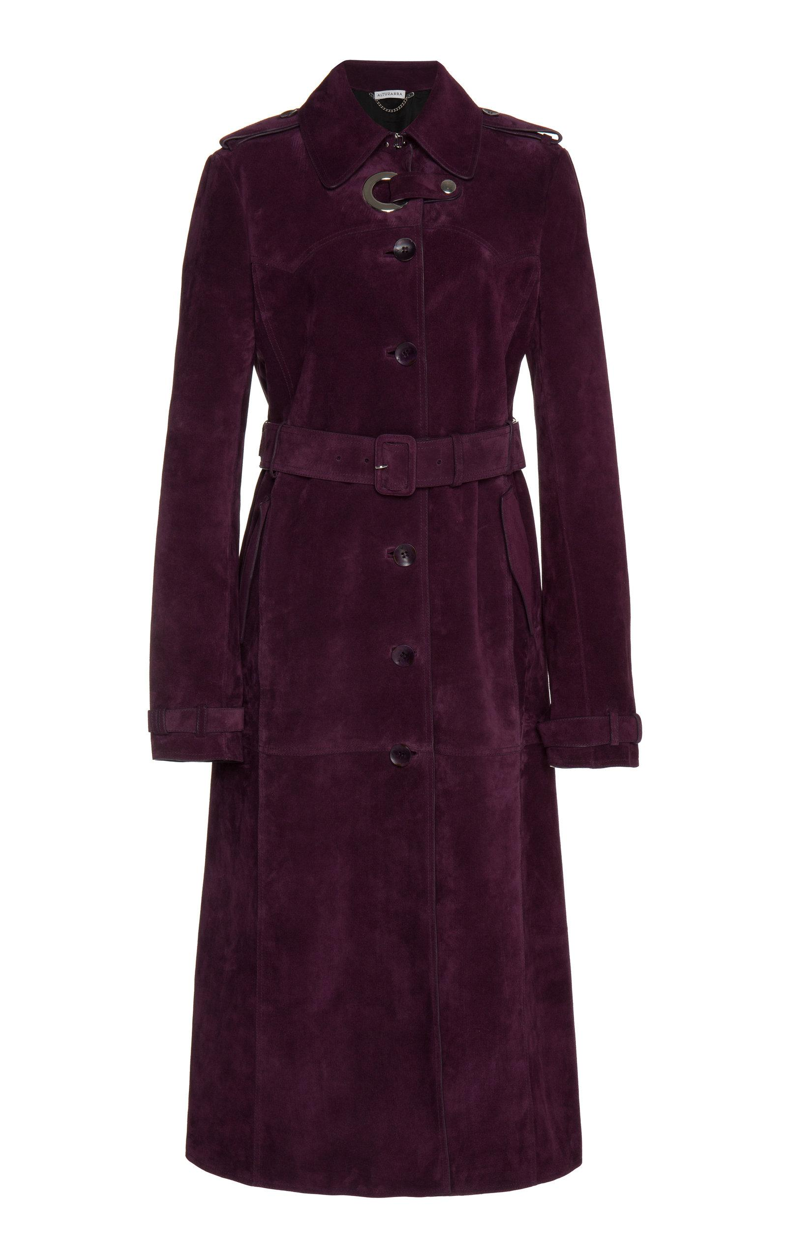 12f508f66c Altuzarra Cassidy Suede Coat In Purple