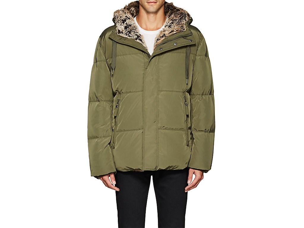 7b0dc7e38c0 Barneys New York Faux-Fur-Lined Tech-Fabric Coat In Dk. Green