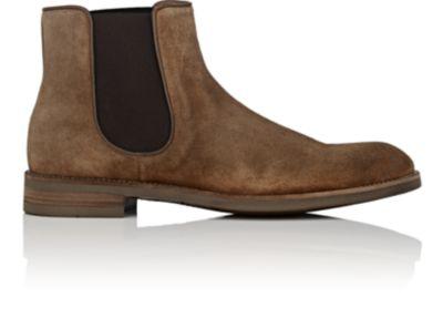 John Varvatos Varick Suede Chelsea Boots In Brown
