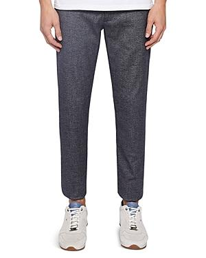 Ted Baker Pintz Slim Fit Textured Trousers In Navy