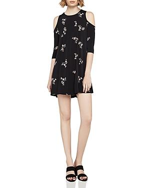 Bcbgeneration Fainting Flowers Cold-Shoulder Dress In Black Multi