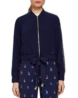 Ted Baker Colour By Numbers Imeelia Track Jacket In Navy
