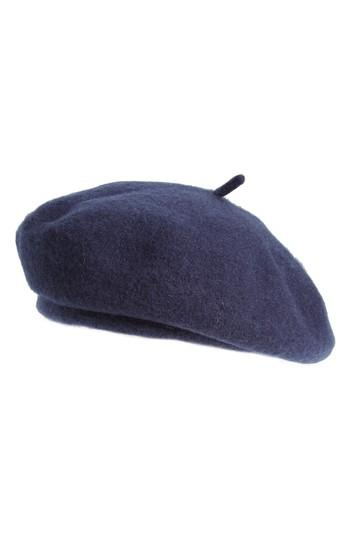 e30f32e009aa0 Brixton Audrey Wool Felt Beret - Blue In Washed Navy