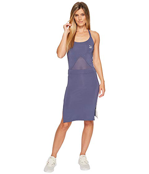 6f7f81852 Puma Archive T7 Strappy-Back Bodycon Dress In Blue | ModeSens