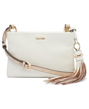 Calvin Klein Holly Pebble Small Crossbody In White