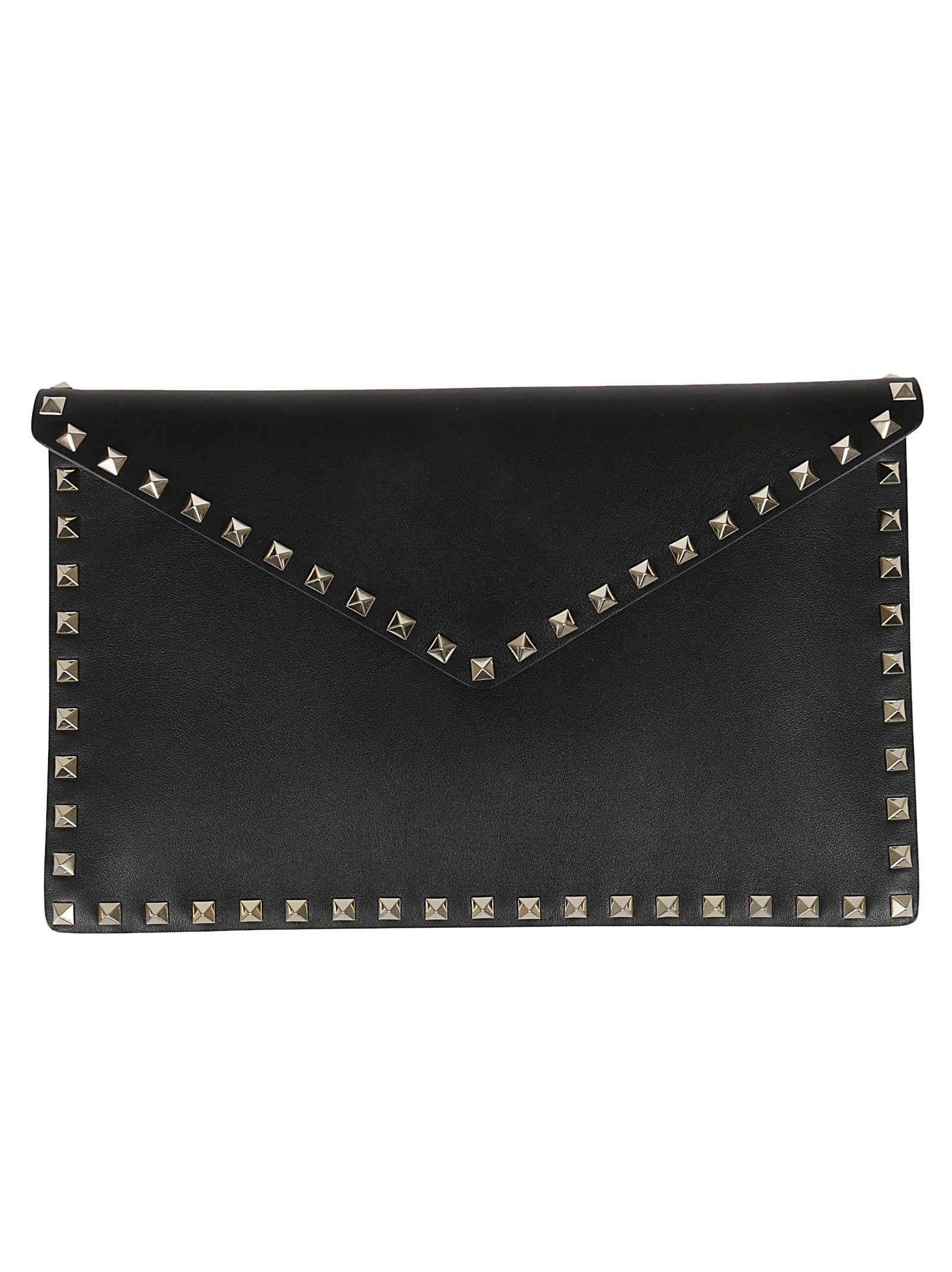 f57ddff912 Valentino Studded Envelope Clutch In Black | ModeSens