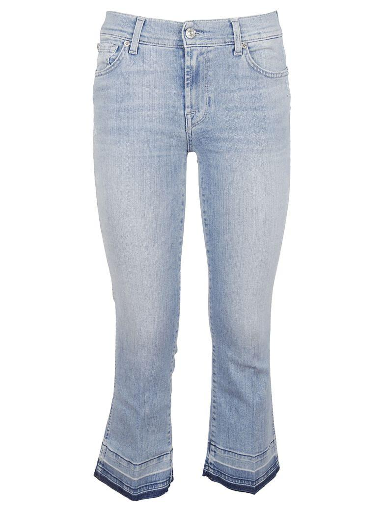 7 For All Mankind Cropped Bootcut Jeans In Sliillbre