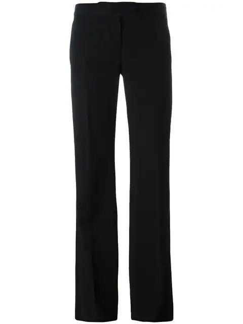 Stella Mccartney Wide-Leg Tuxedo Trousers In Black