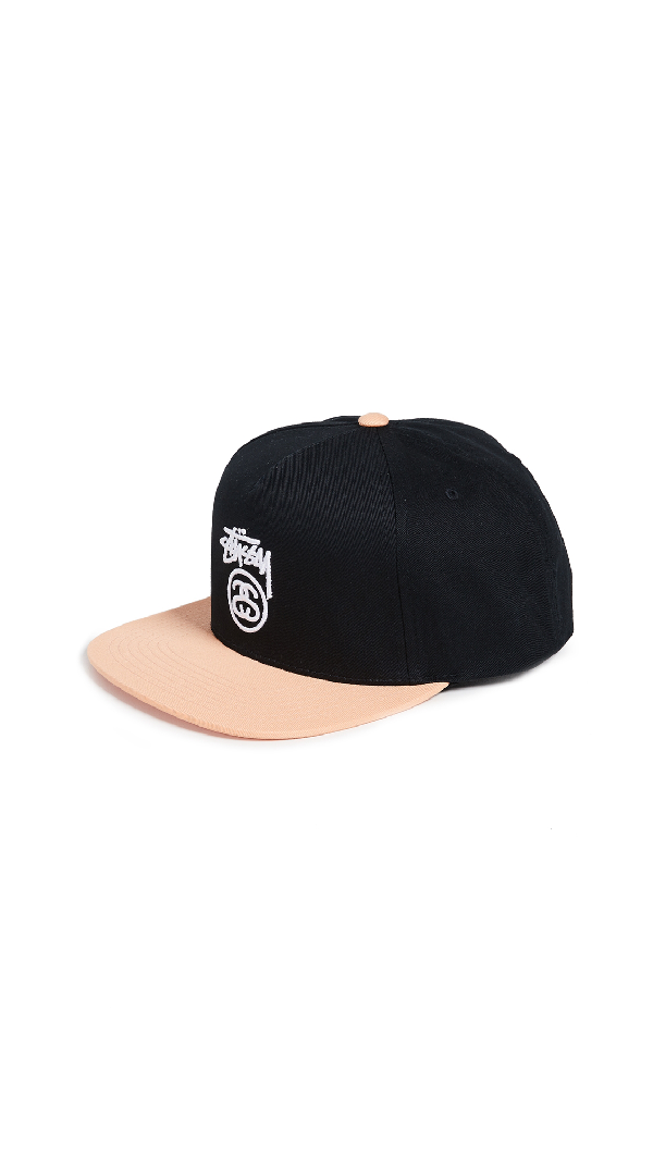 deec64b09cb0a3 Stussy Stock Logo S18 Snapback Cap In Black   ModeSens