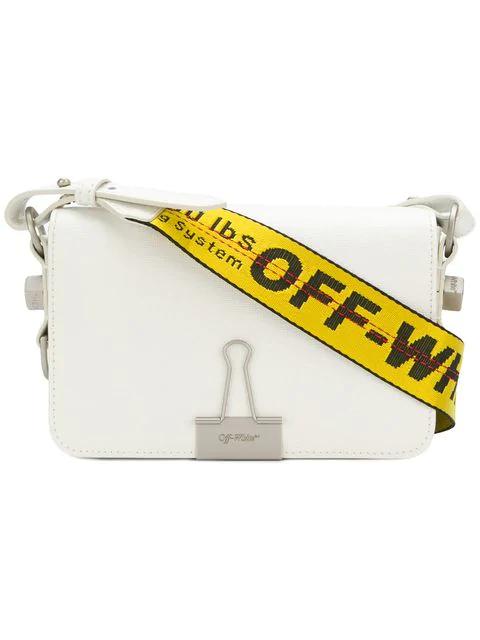 Off-white Mini Binder Clip Bag In White