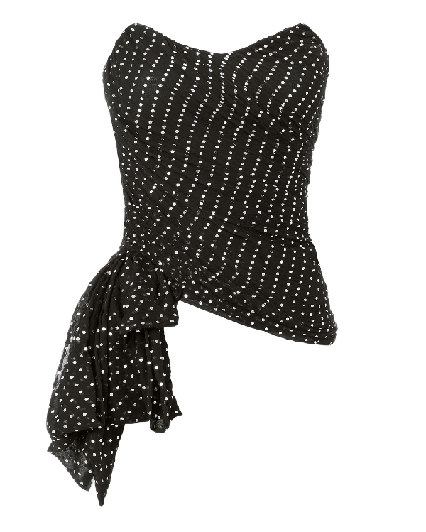 4636f6f5a22 Redemption Silver Dot Bustier Top