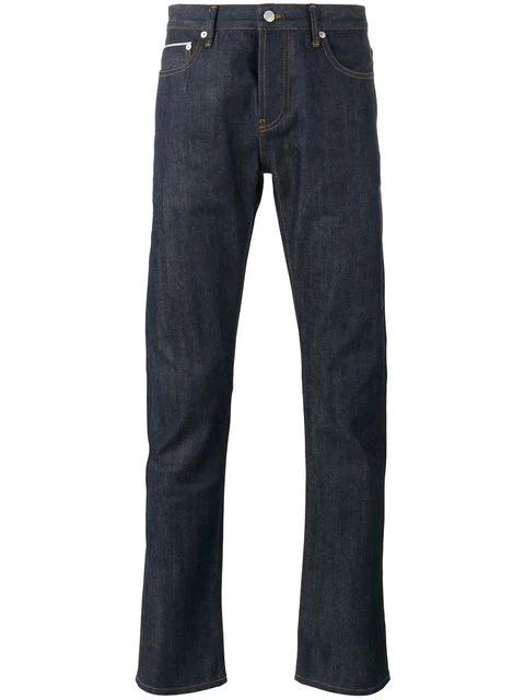 Officine Generale Kurt Denim Straight-Leg Jeans In Blue