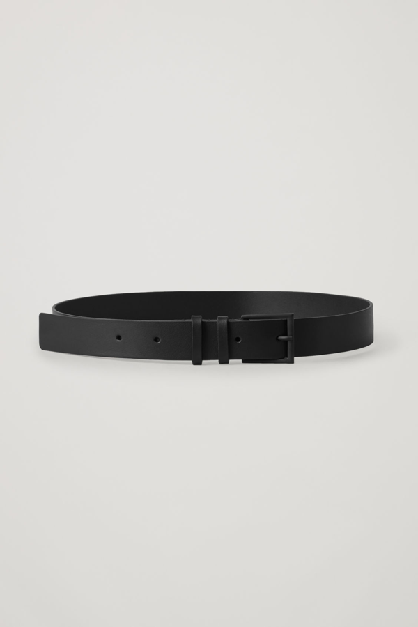 Cos Classic Leather Belt In Black