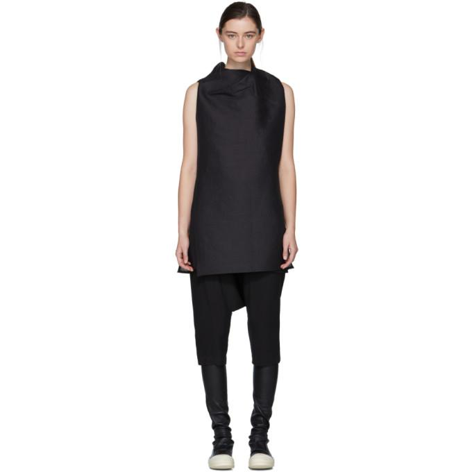 56f25e938fa Rick Owens Black Toga Tunic Top In 09 Black | ModeSens