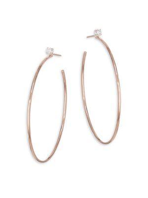 c694bb121 Anita Ko 18K Gold & Diamond Stud Hoop Earrings In Rose Gold | ModeSens