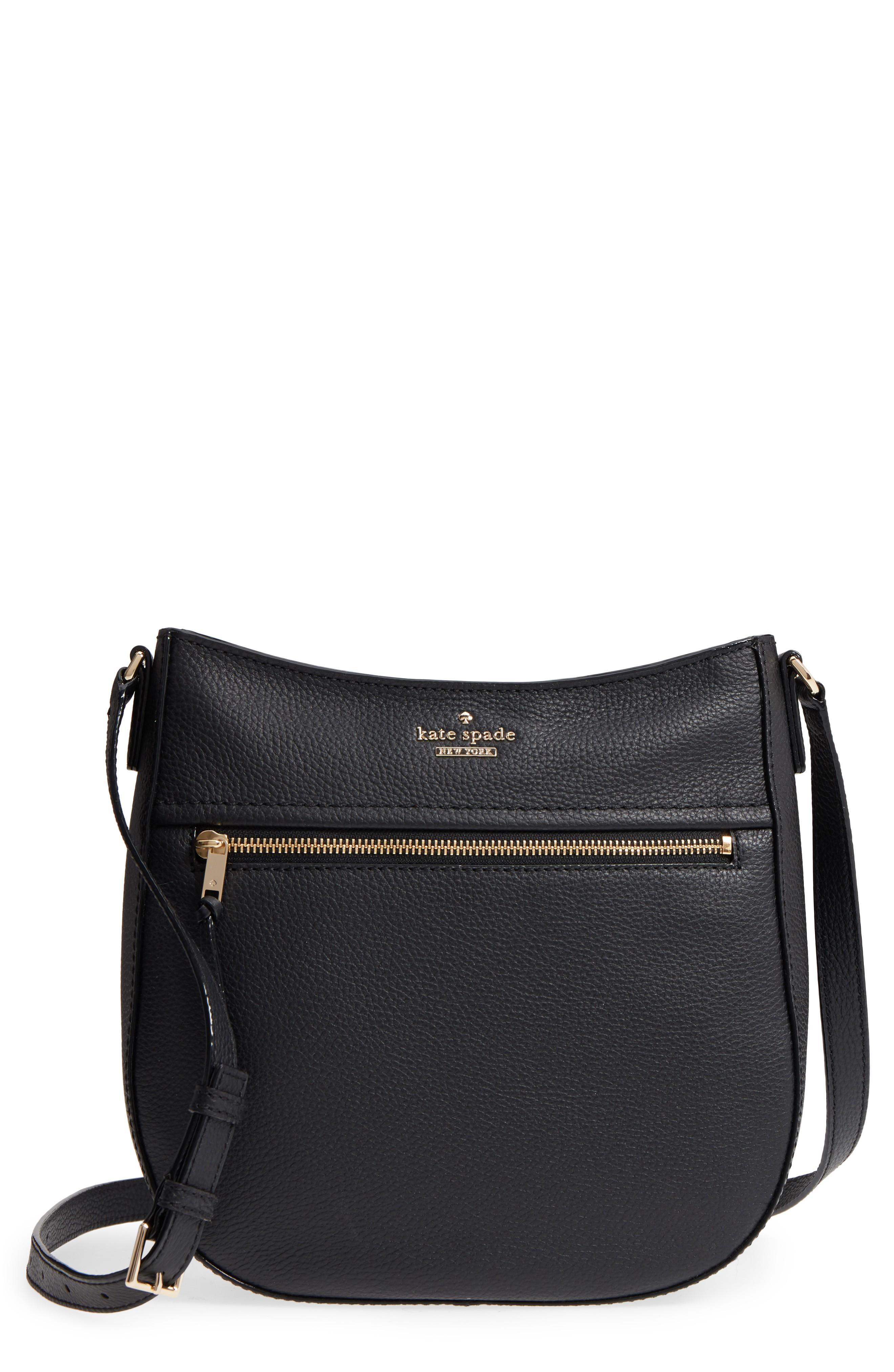 Kate Spade Jackson Street - Robin Leather Crossbody Bag - Black ... c8ad8ba8f5a0a
