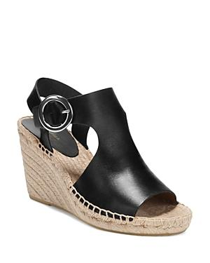 e64585bd0a5 Women's Nolan Leather Espadrille Wedge Sandals in Black Leather