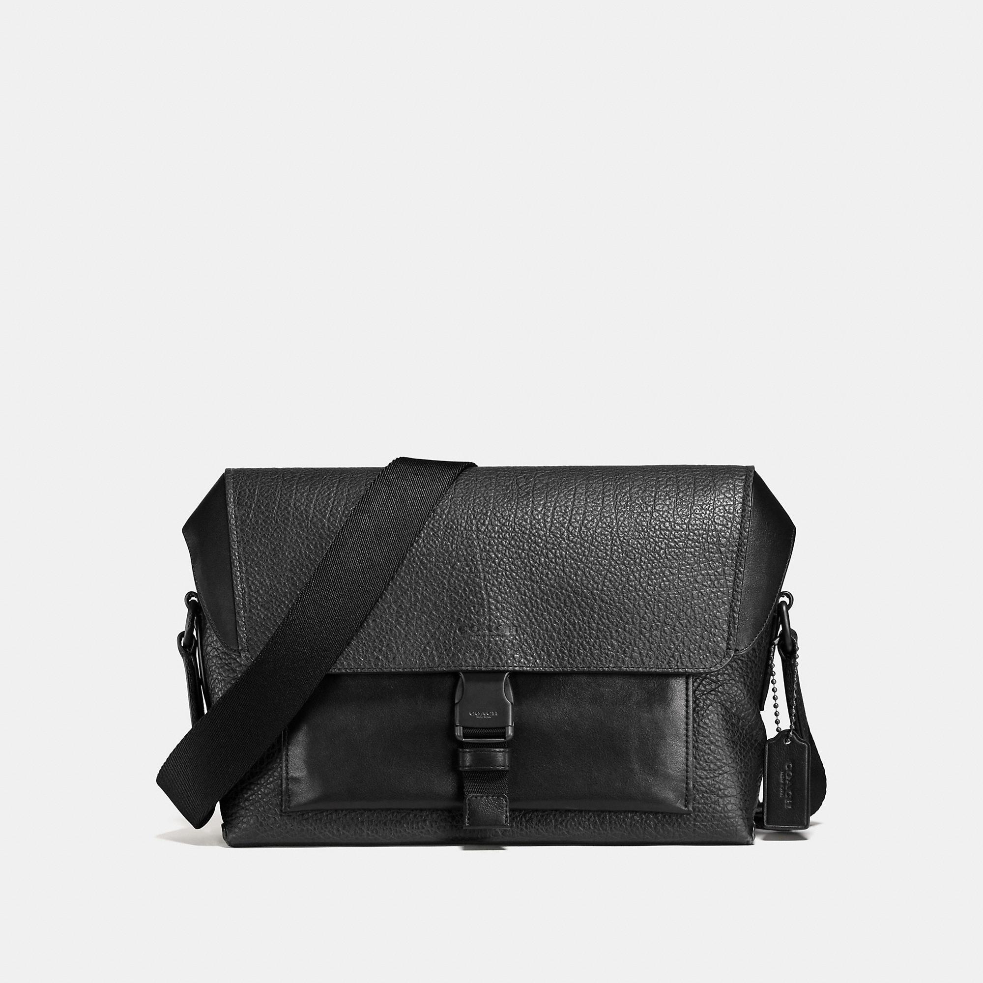 Coach Manhattan Bike Bag In Black/black