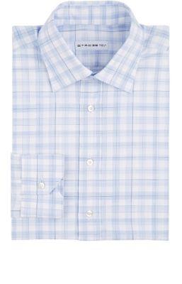 Etro Plaid Dress Shirt In Light Blue