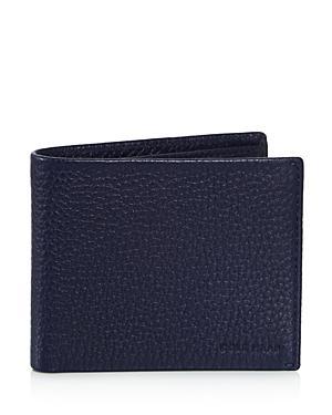 36cdd1d04644 Brayton Pebbled Leather Billfold Wallet in Marine Blue