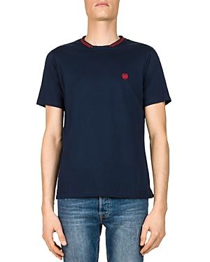The Kooples Double-collar Tee In Blue