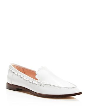 Kate Spade New York Cape Scalloped Loafers In Off White