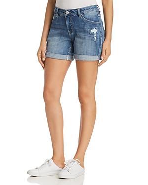 Jag Jeans Alex Distressed Denim Boyfriend Shorts In Mid Vintage